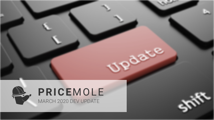 Pricemole march 2020 dev update